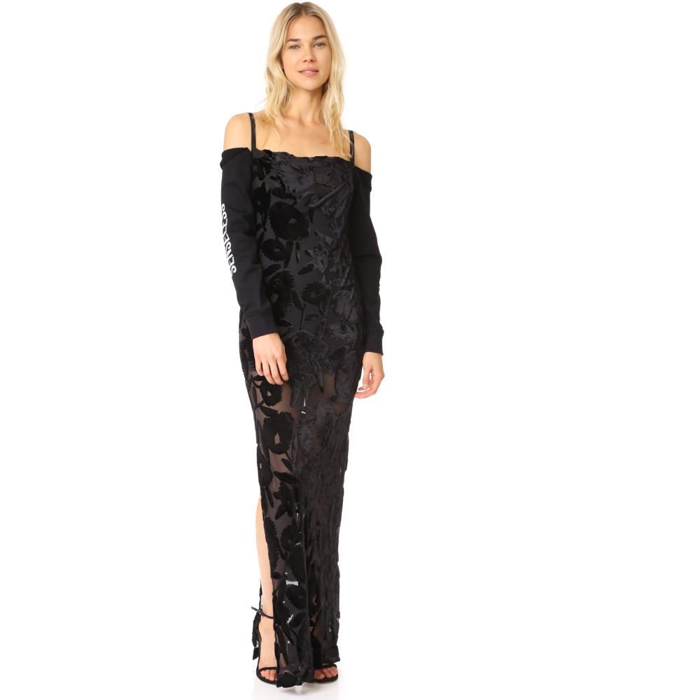 アレキサンダー マックイーン レディース ワンピース・ドレス パーティードレス【Long Camisole Dress】Black