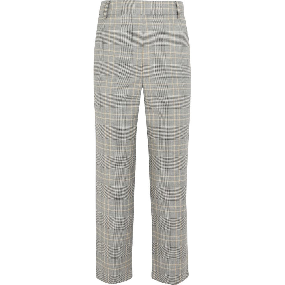 ティビ レディース ボトムス・パンツ【Jasper cropped checked woven straight-leg pants】