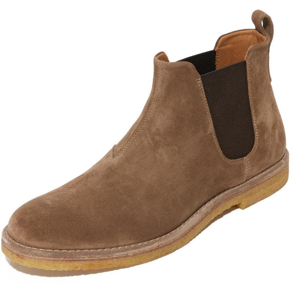 ヴィンス メンズ シューズ?靴 ブーツ【Sawyer Suede Chelsea Boots】Flint