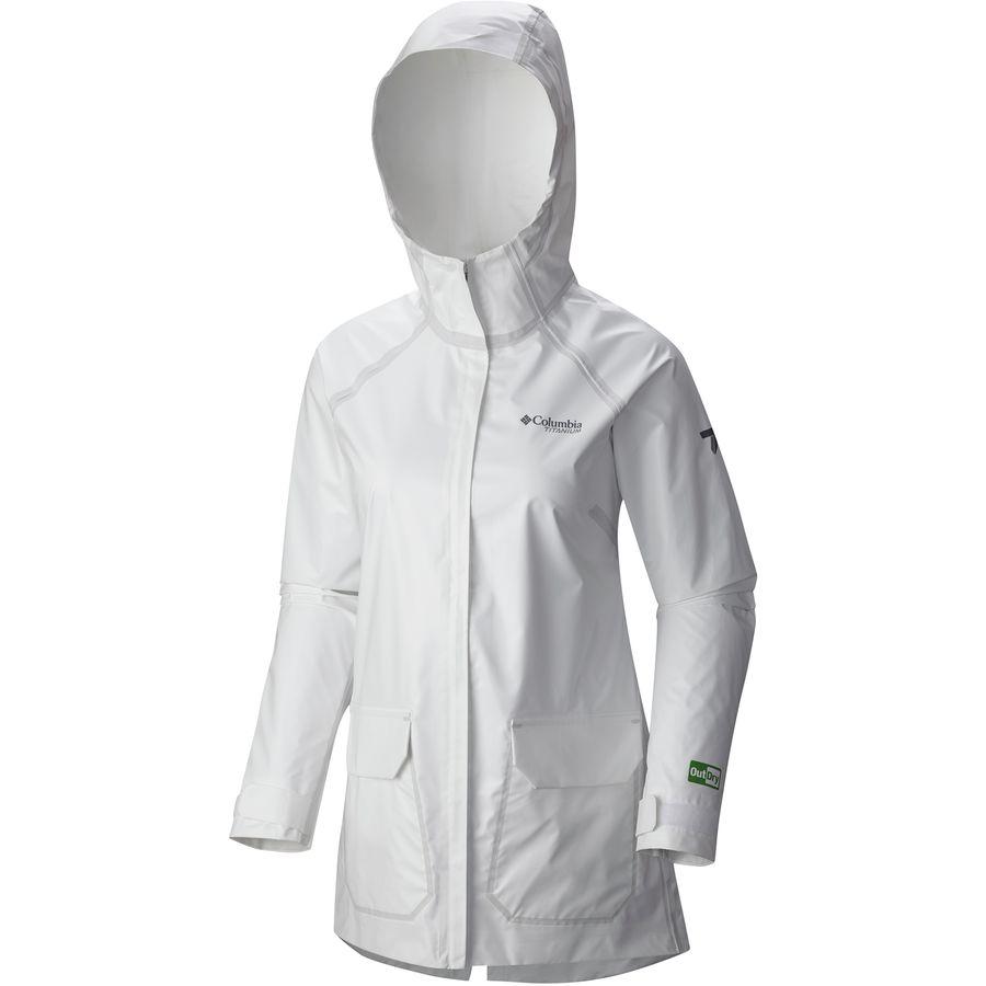 コロンビア Columbia レディース アウター レインコート【Outdry Ex Eco Fish Tale Casual Shell Jacket】White Undyed