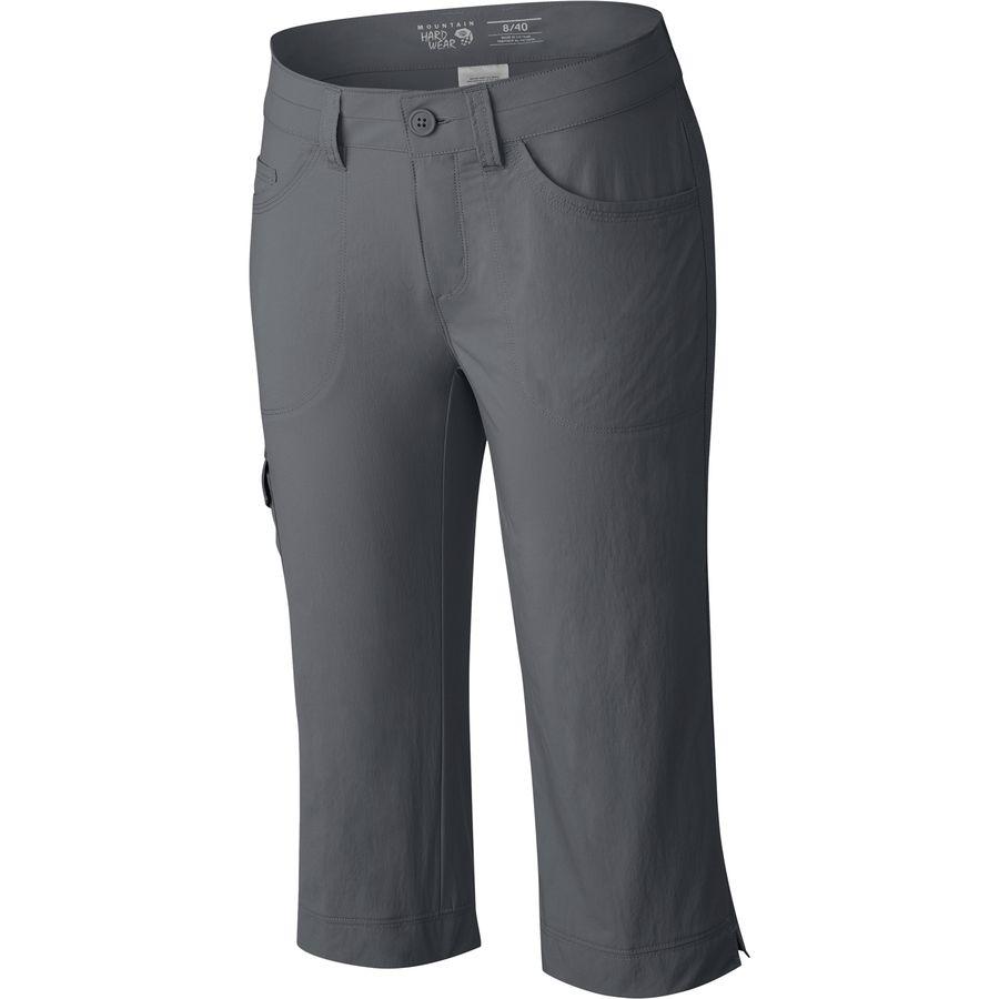 マウンテンハードウェア Mountain Hardwear レディース ボトムス カジュアルパンツ【Mirada Capri Pant】Graphite