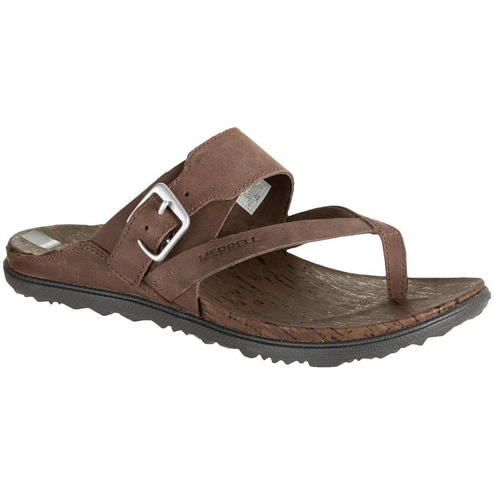メレル Merrell レディース シューズ・靴 サンダル【Around Town Thong Buckle Sandal】Brown