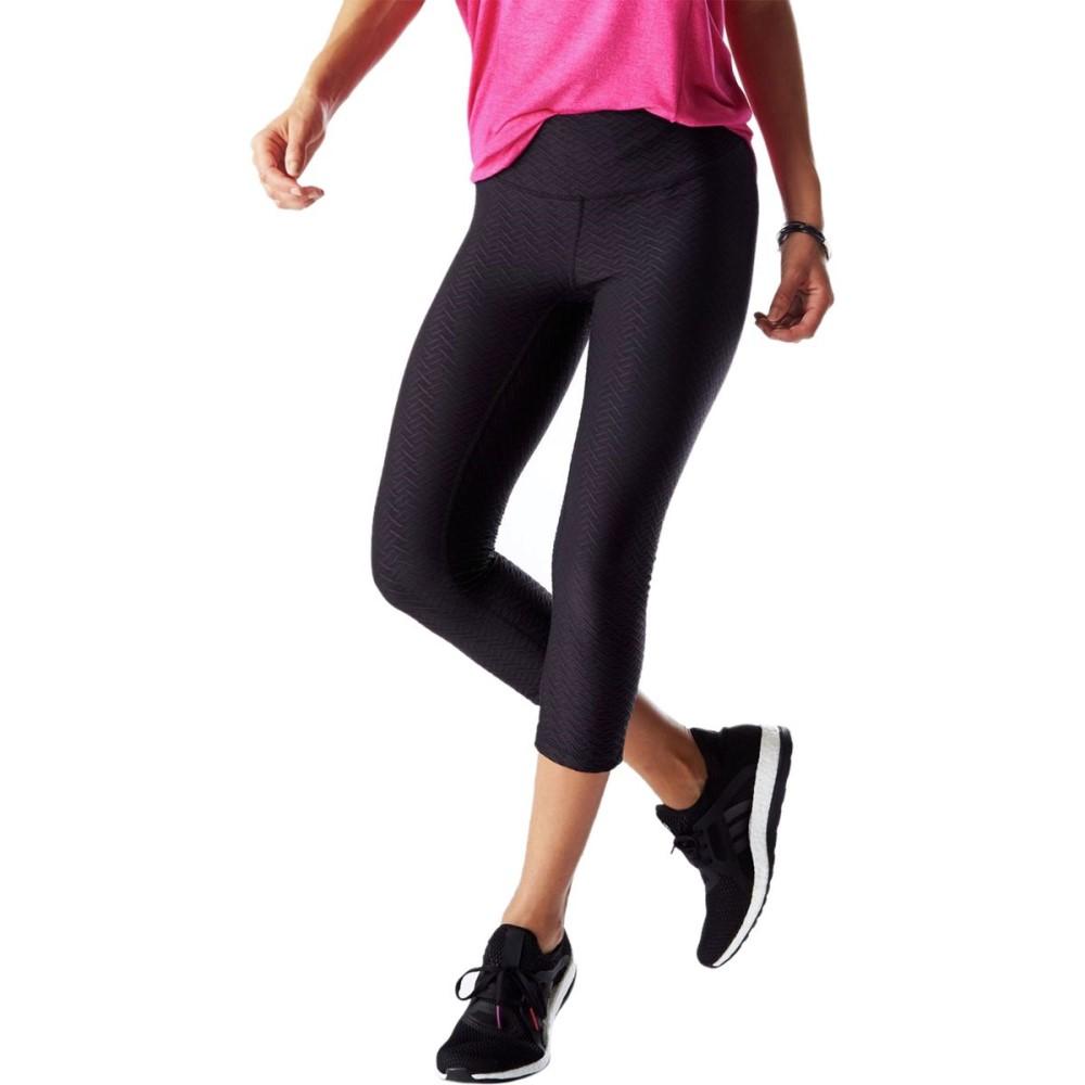 ルシー Lucy レディース ボトムス レギンス【Studio Hatha Capri Legging】Lucy Black Velocity Jacquard