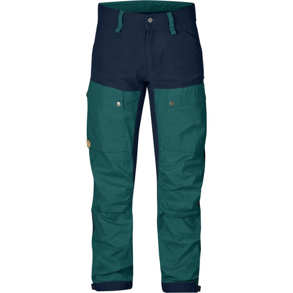 売切れ注意 フェールラーベン Fjallraven メンズ クライミング ウェア【Keb Trousers】Glacier Green/Dark Navy