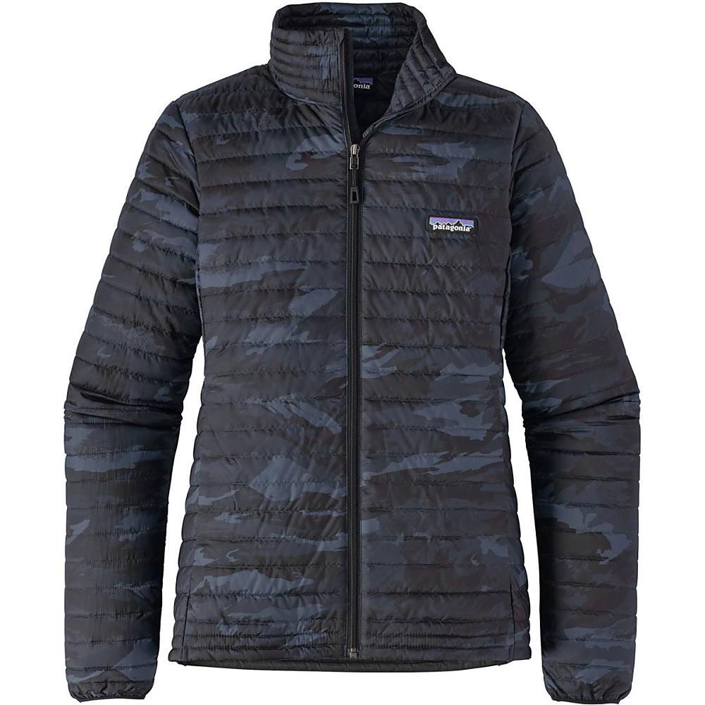 パタゴニア レディース アウター ダウンジャケット【Down Shirt Jacket】El Nino Camo/Black