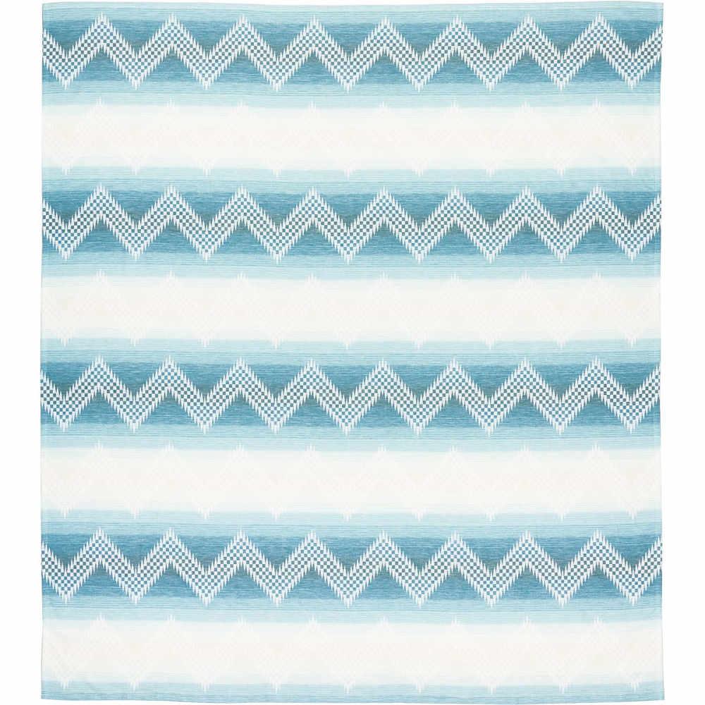 ペンドルトン レディース 雑貨【Cotton Jacquard Blanket】Willow Basket River, QUEEN