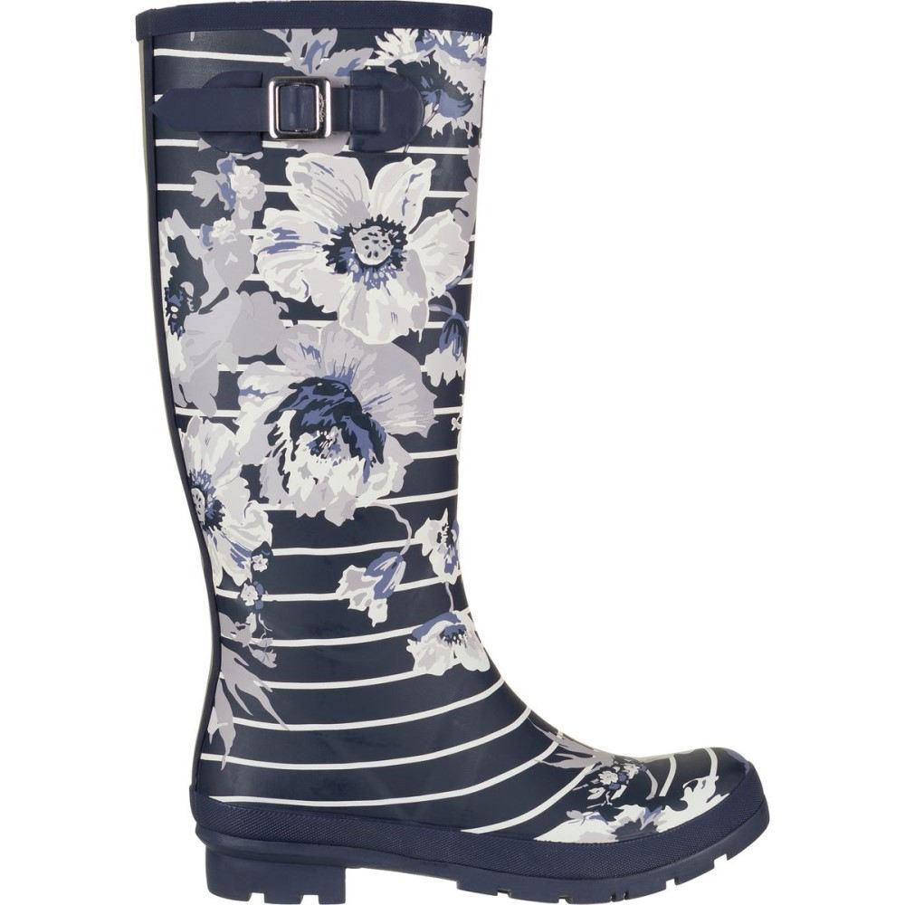 ジュールズ レディース シューズ・靴 レインシューズ・長靴【Welly Print Boot】French Navy Posy Stripe