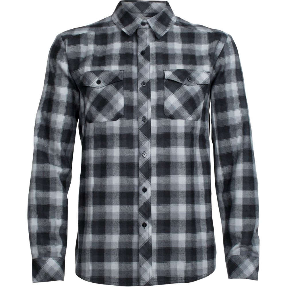 アイスブレーカー メンズ トップス シャツ【Lodge Flannel Shirts】Gritstone Heather/Black/Plaid