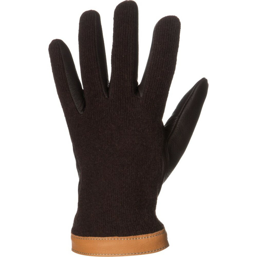 ヘスタ メンズ 手袋・グローブ【Deerskin Wool Tricot Glove】Espresso/Dark Brown