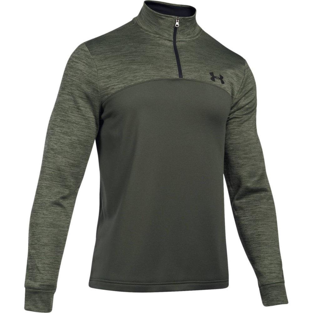 アンダーアーマー メンズ アウター ジャケット【Armour Fleece 1/4 - Zip Fleece Pullovers】Downtown Green/Black