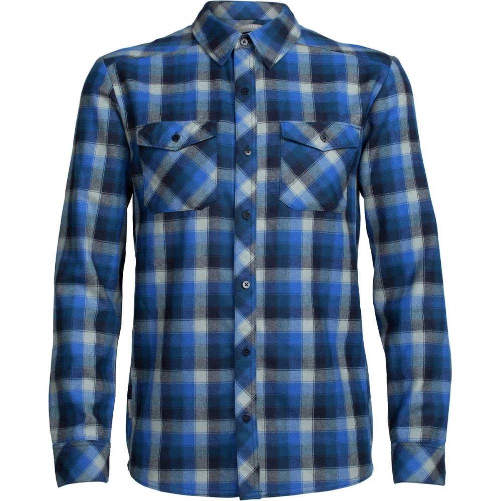 アイスブレーカー メンズ トップス シャツ【Lodge Flannel Shirts】Largo/Midnight Navy/Plaid