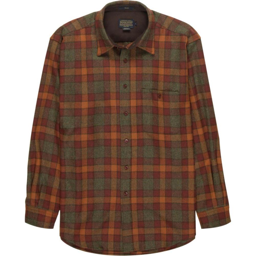 ペンドルトン メンズ トップス シャツ【Trail Shirts】Rust/Green Mix Check