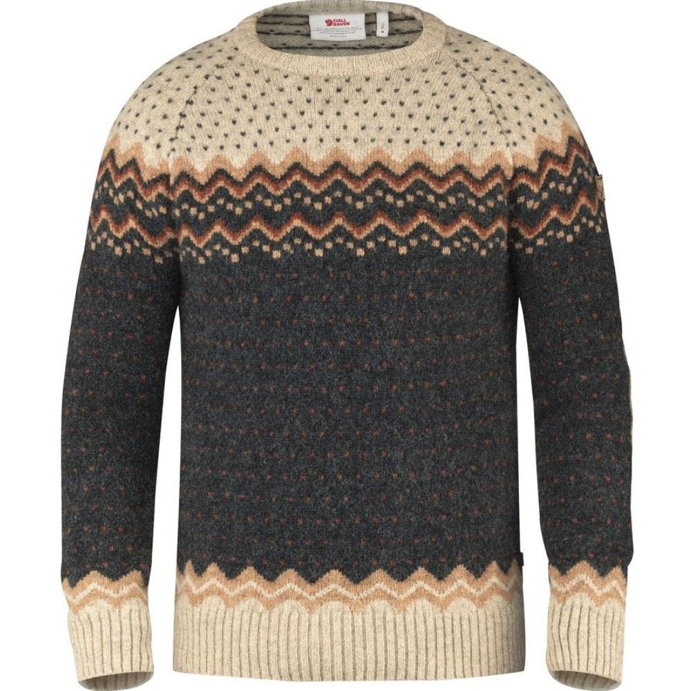 品揃え フェールラーベン Fjallraven メンズ トップス セーター【Ovik Folk Knit Sweater】Dark Navy