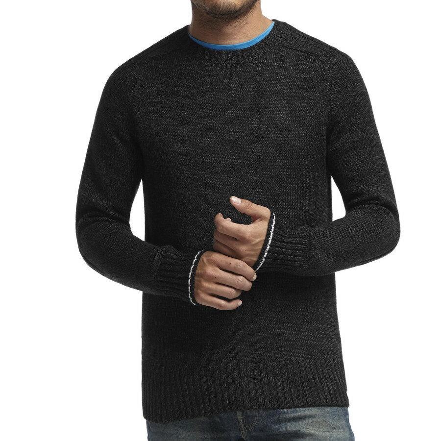 最高の アイスブレーカー Icebreaker メンズ トップス セーター【Spire Crewe Sweater】Black/Metro Heather/Snow