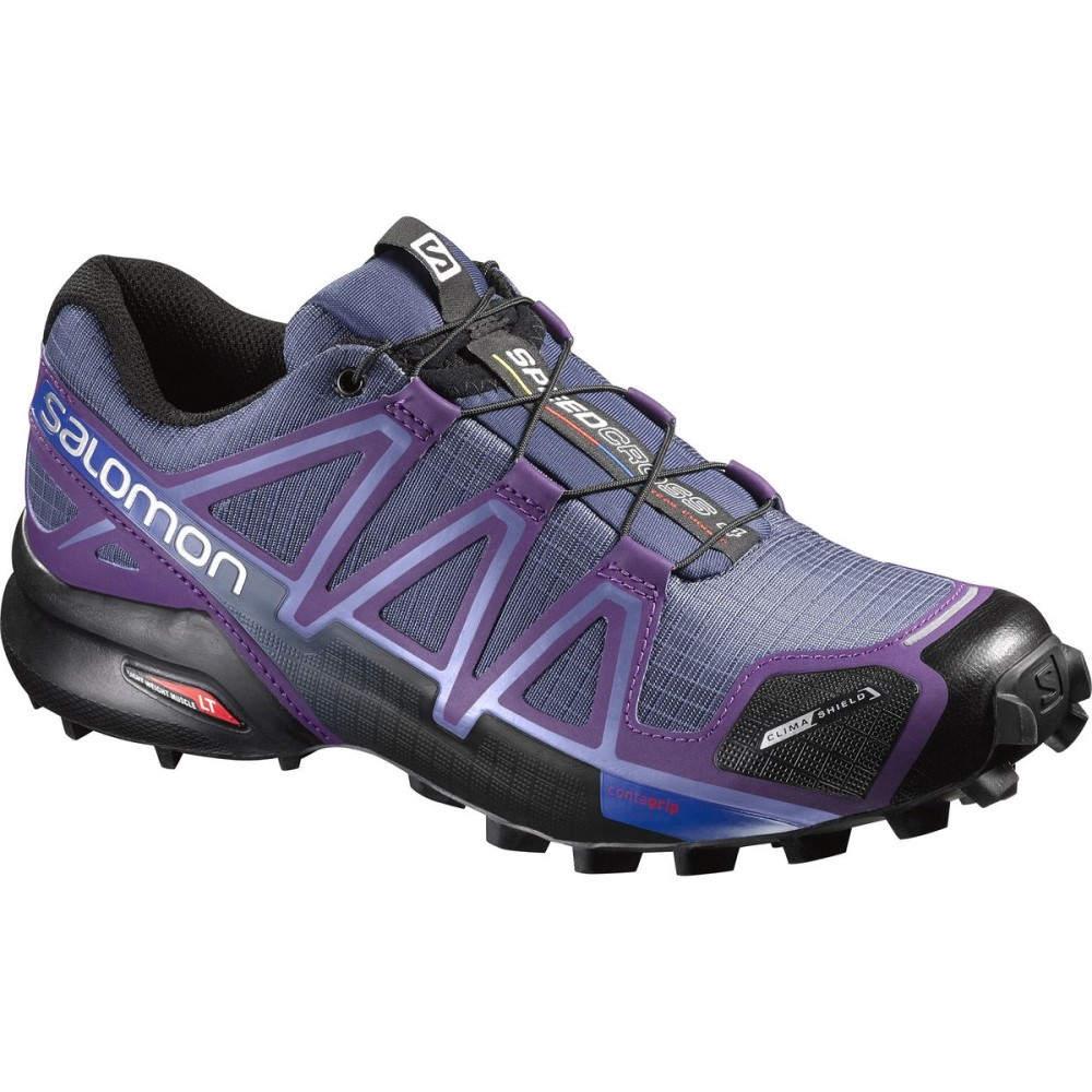 サロモン Salomon レディース ランニング シューズ・靴【Speedcross 4 CS Trail Running Shoe】Slateblue/Cosmic Purple/Black