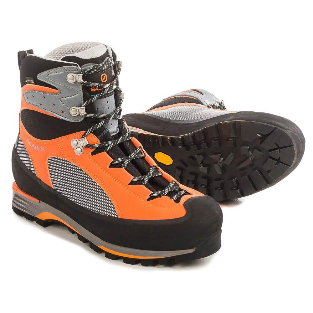 送料無料で スカルパ Scarpa メンズ 登山 シューズ・靴【Charmoz Pro Gore-Tex Mountaineering Boots - Waterproof 】Grey/Orange