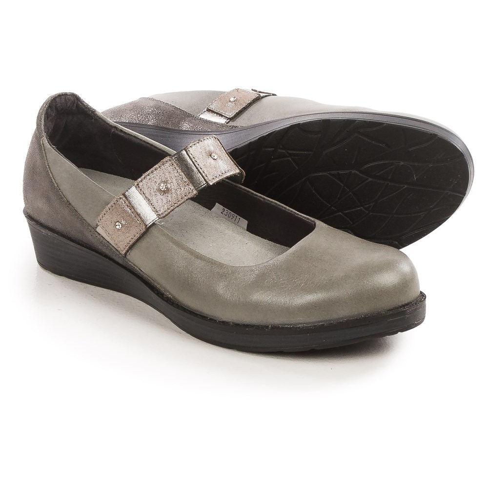ナオト Naot レディース シューズ・靴 ビジネスシューズ【Honesty Mary Jane Shoes - Leather 】Grey/Black Gloss