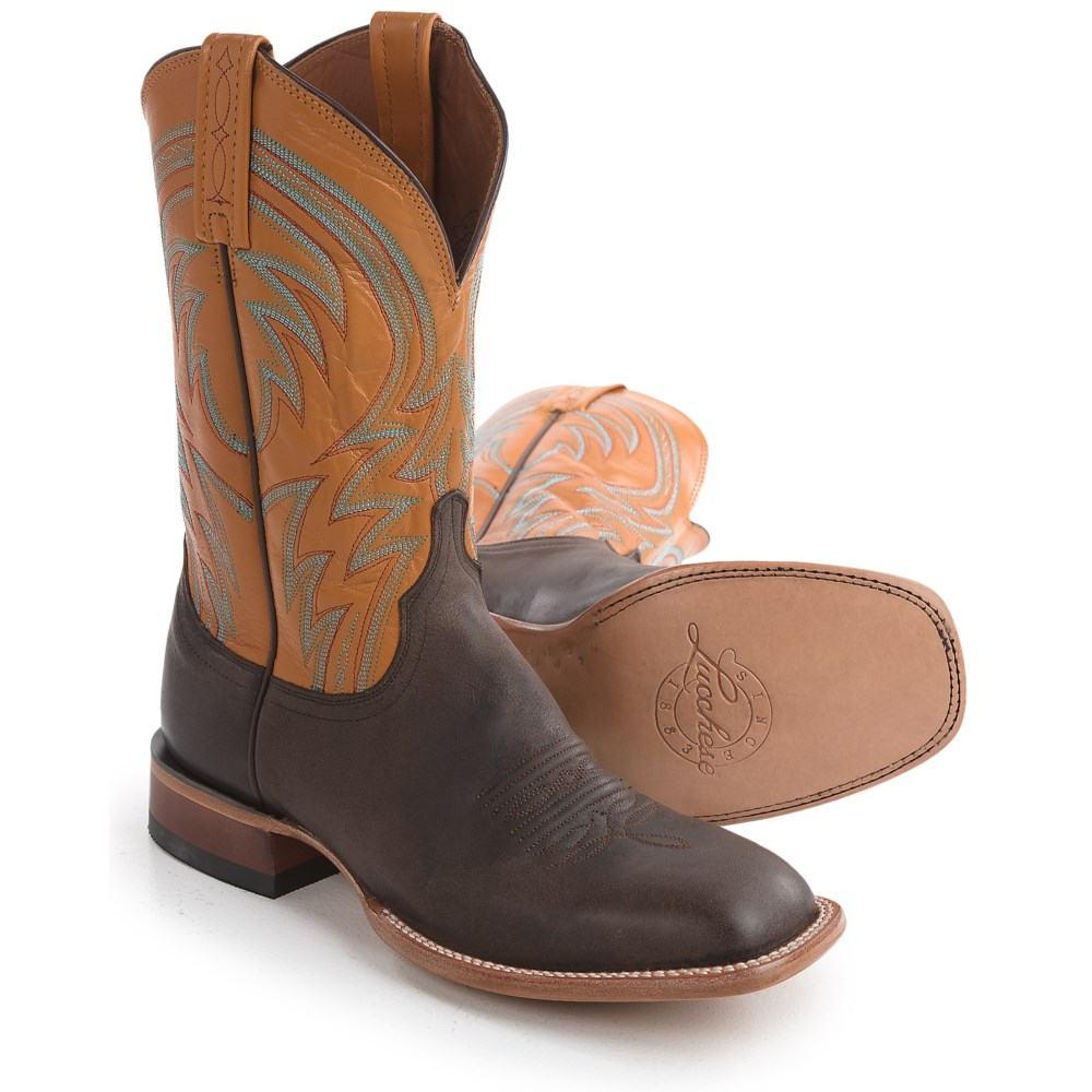 ルケーシー Lucchese メンズ シューズ・靴 ブーツ【1883 Alan Smooth Leather Cowboy Boots - Square Toe 】Dark Brown