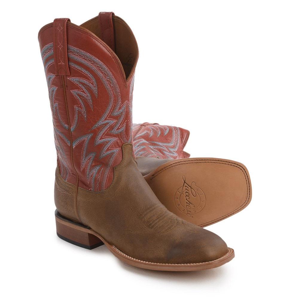 ルケーシー Lucchese メンズ シューズ・靴 ブーツ【1883 Alan Smooth Leather Cowboy Boots - Square Toe 】Tan/Tan