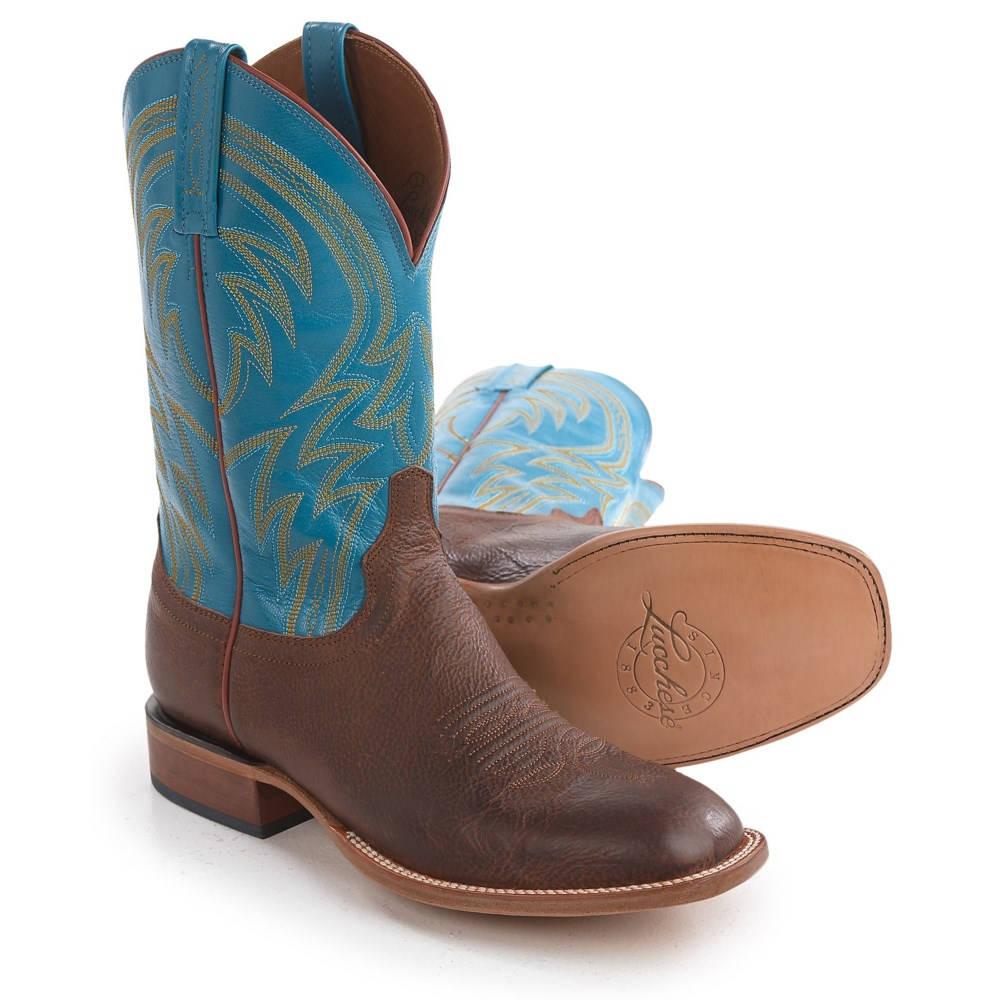 ルケーシー Lucchese メンズ シューズ・靴 ブーツ【1883 Alan Smooth Leather Cowboy Boots - Square Toe 】Tan/Turquoise