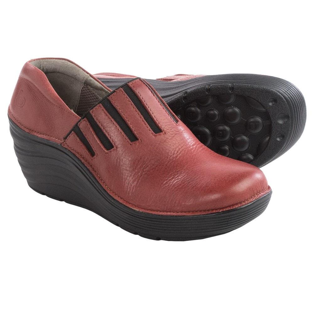 ビオニカ レディース シューズ・靴 クロッグ【Coast Wedge Clogs - Leather】Red