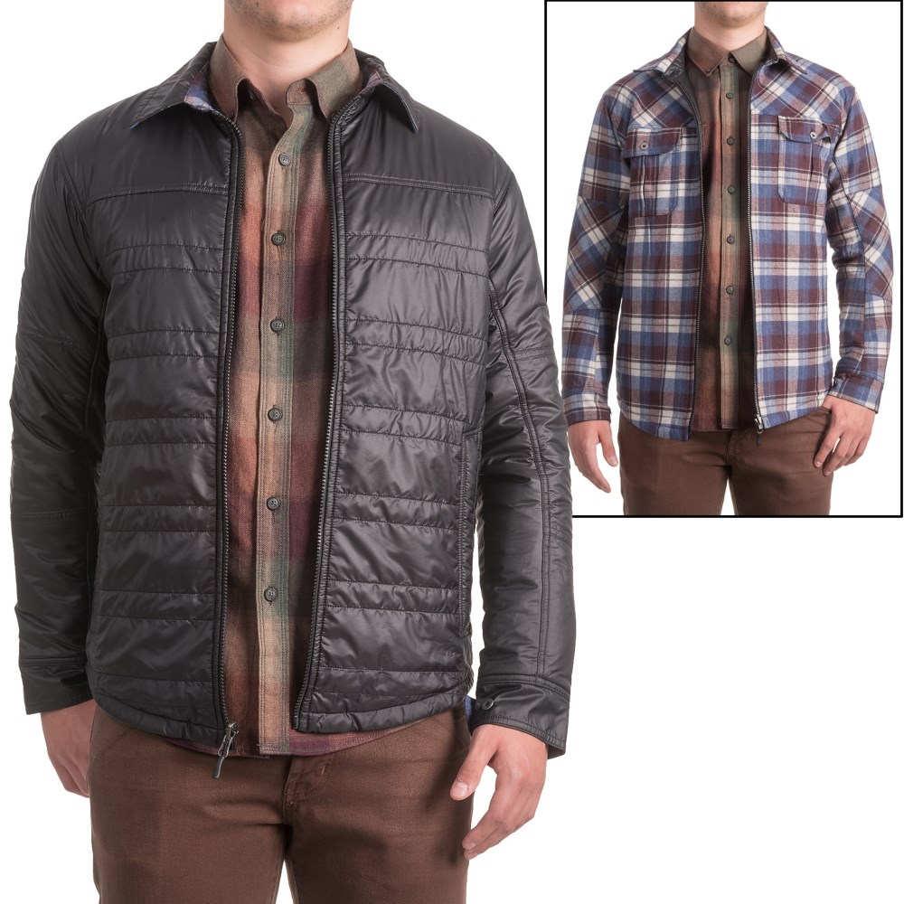 アイベックス メンズ トップス シャツ【Wool Aire Reversible Camp Shirt Jacket】Black