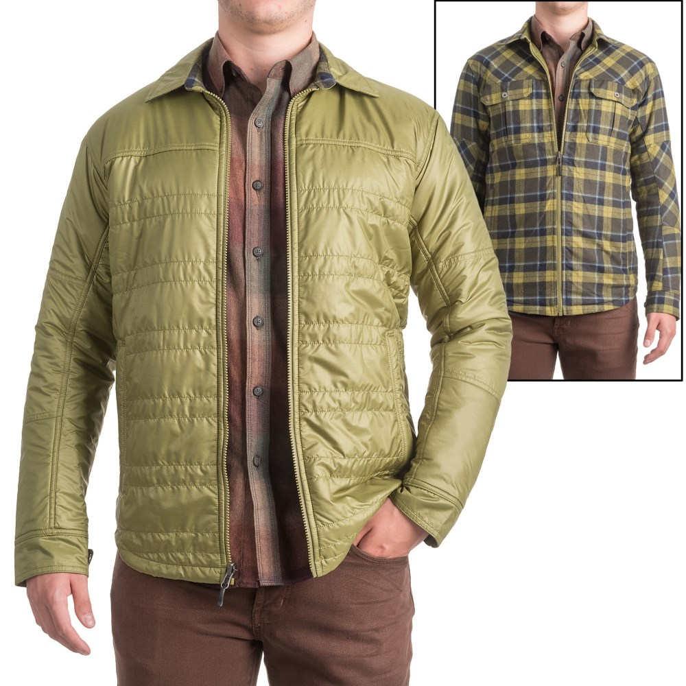 アイベックス メンズ トップス シャツ【Wool Aire Reversible Camp Shirt Jacket】Peat Moss