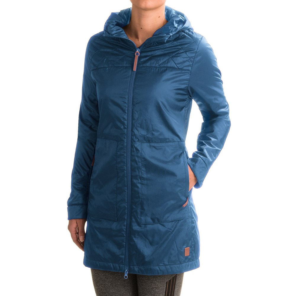 トードアンドコー レディース アウター ジャケット【Airvoyant Hooded PrimaLoft Puffer Jacket - Insulated】Blue Abyss