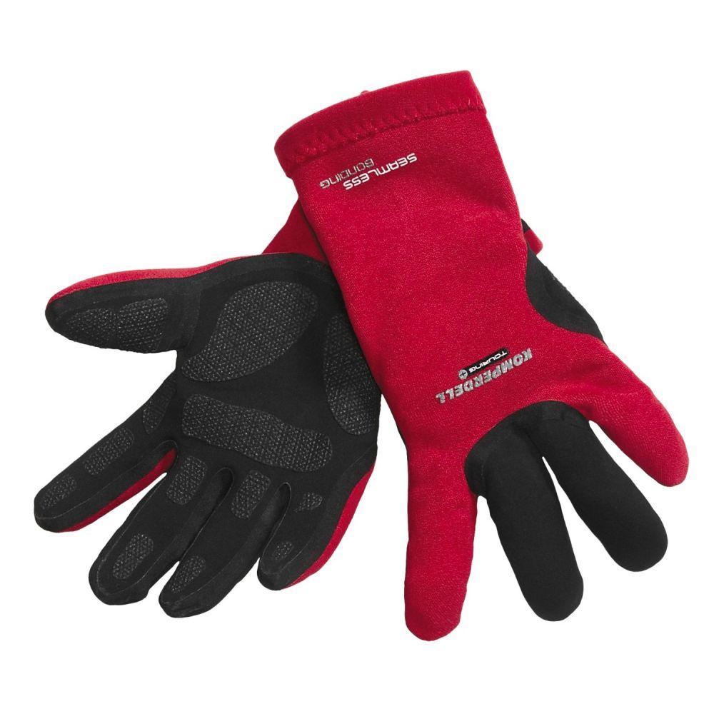 コンパーデル メンズ 手袋・グローブ【Touring Frottee Gloves - Waterproof】Red/Black