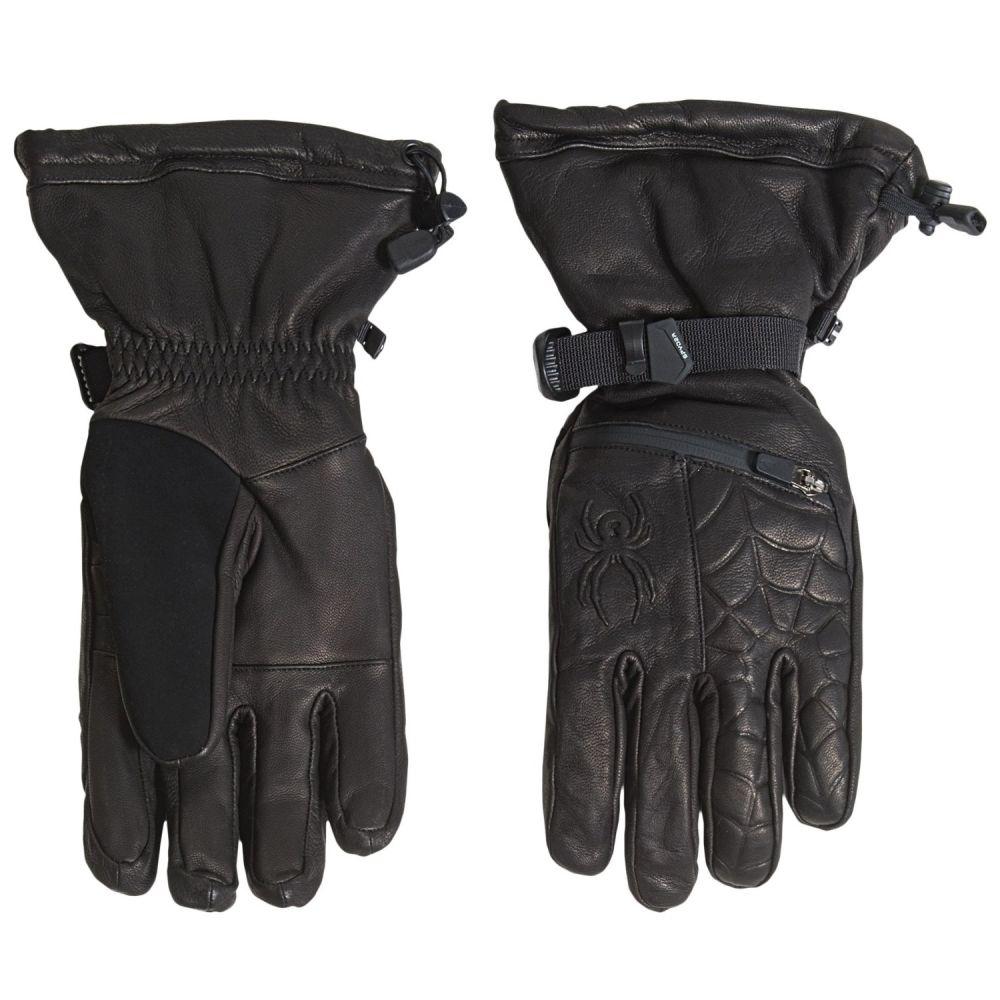 スパイダー メンズ 手袋・グローブ【PrimaLoft Ultraweb Leather Ski Gloves - Waterproof, Insulated】Black