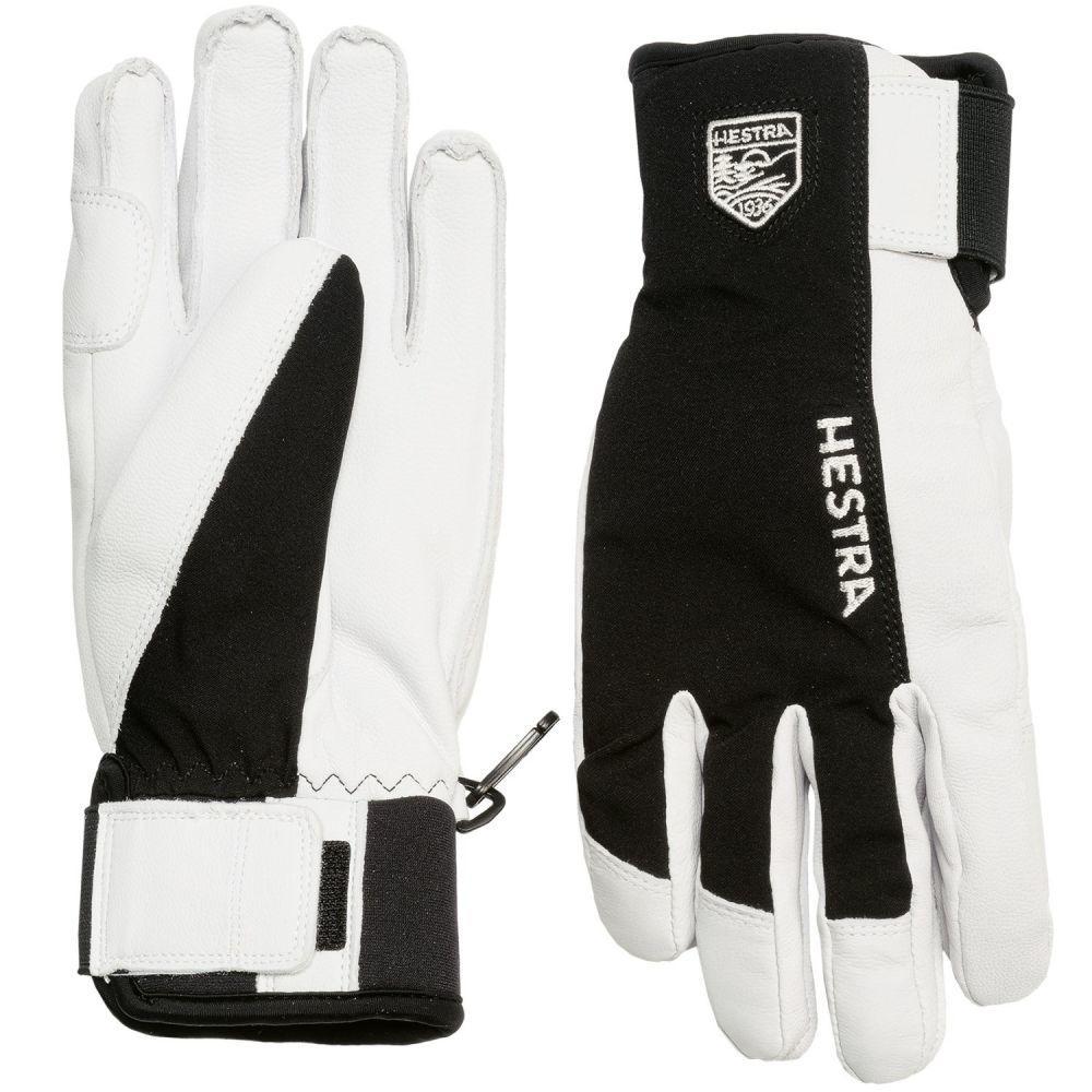 ヘスタ メンズ 手袋・グローブ【Army Sastrugi Gloves - Leather】Black/White