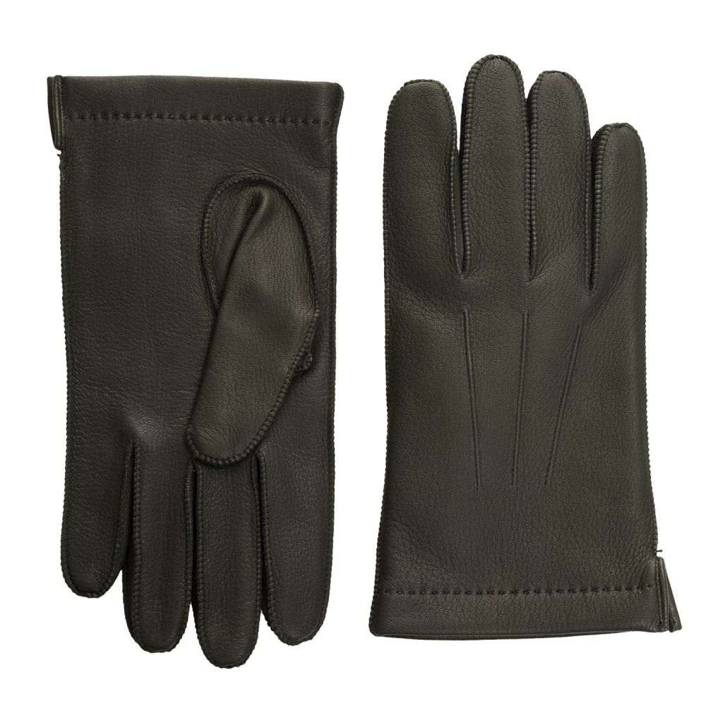 ポルトラーノ メンズ 手袋・グローブ【CL Deerskin Gloves - Cashmere Lined】Dark Green