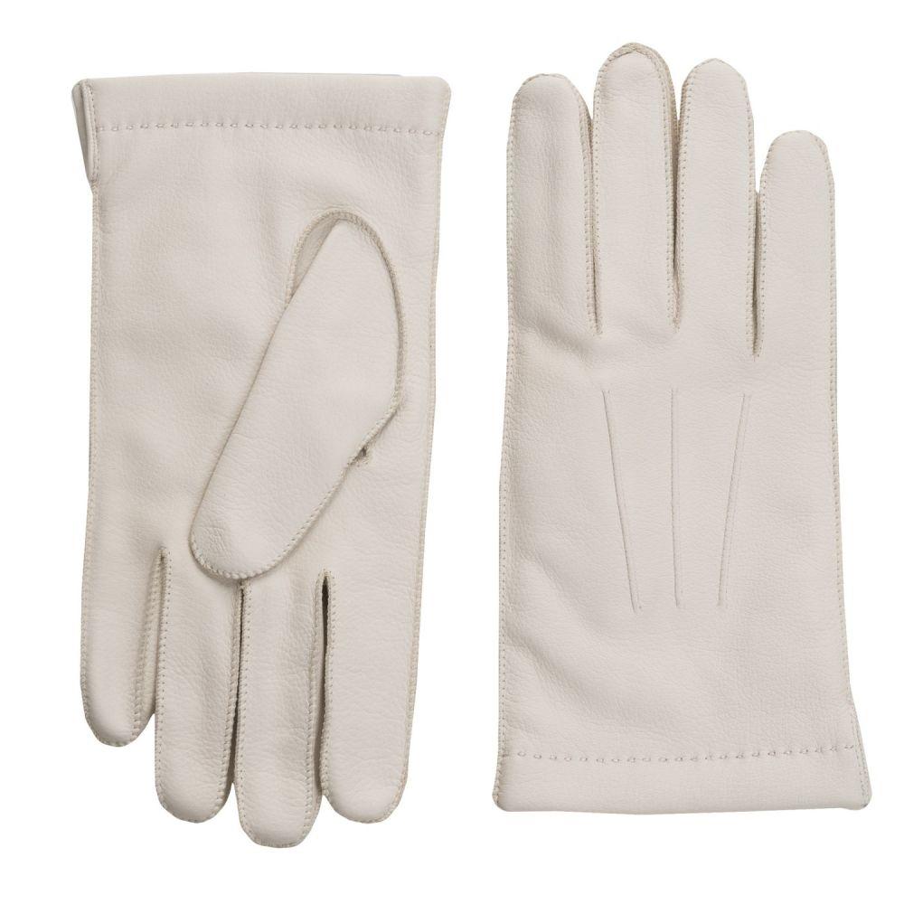 ポルトラーノ メンズ 手袋・グローブ【CL Deerskin Gloves - Cashmere Lined】Oyster