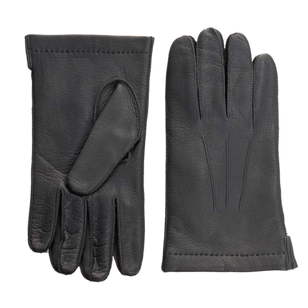 ポルトラーノ メンズ 手袋・グローブ【CL Deerskin Gloves - Cashmere Lined】Shale