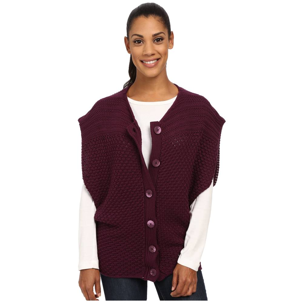 プラーナ Prana レディース トップス ニット・セーター【Estee Sweater Vest】Black Plum