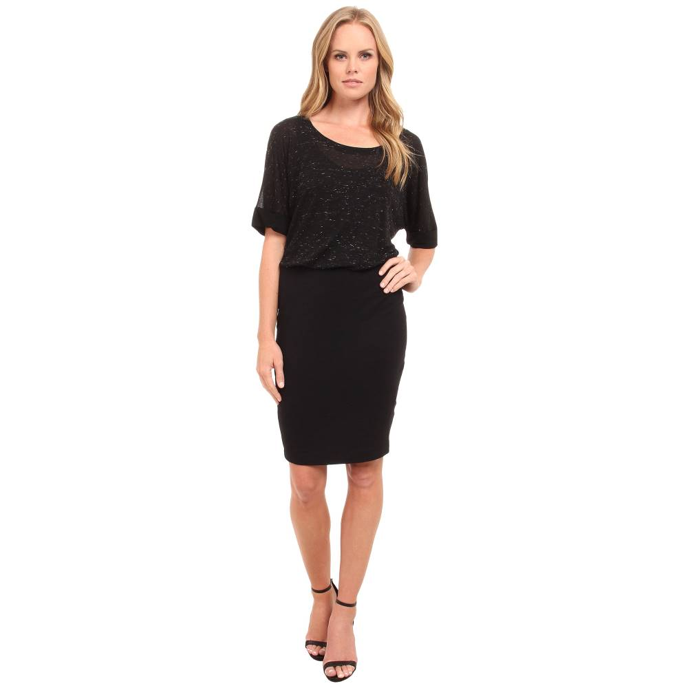 スプレンディッド レディース ワンピース・ドレス ワンピース【Two Layer Dress】Black