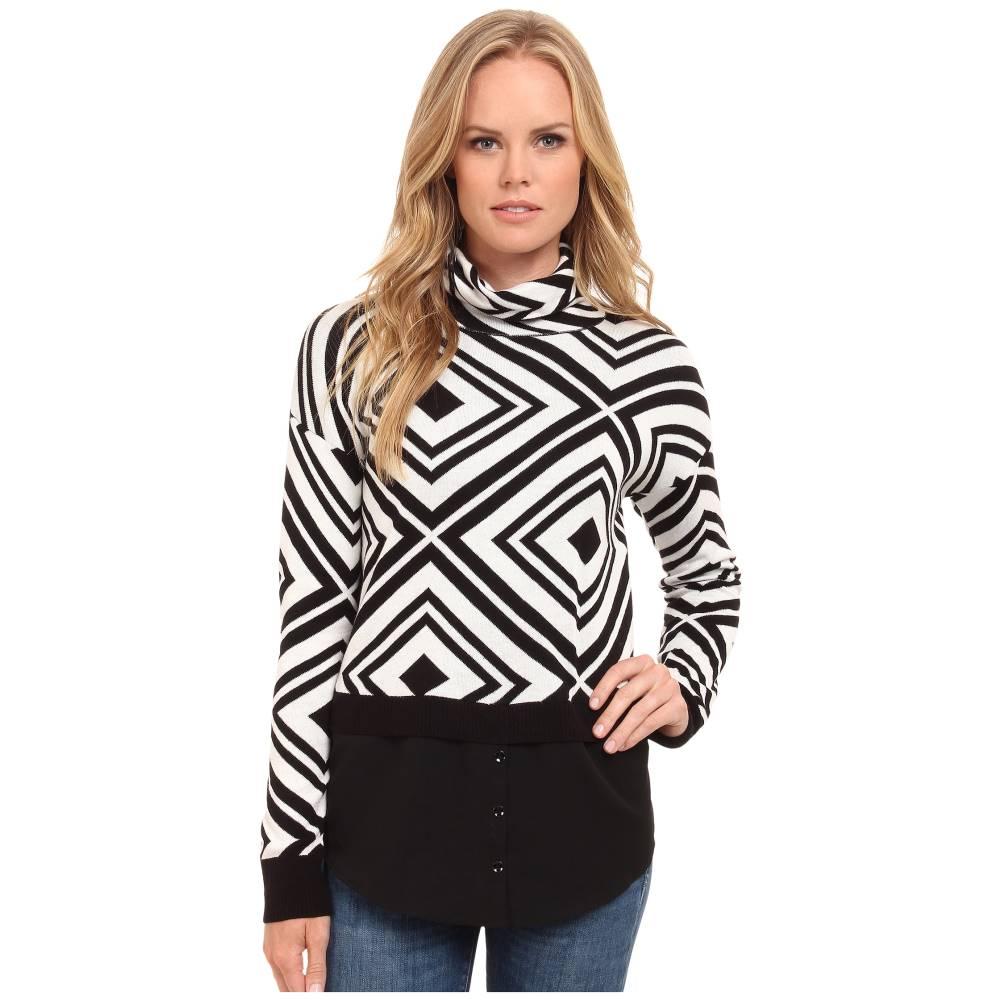 ケンジー kensie レディース トップス ニット・セーター【Cotton Blend Aztec Sweater KS9K5776】Ivory Multi