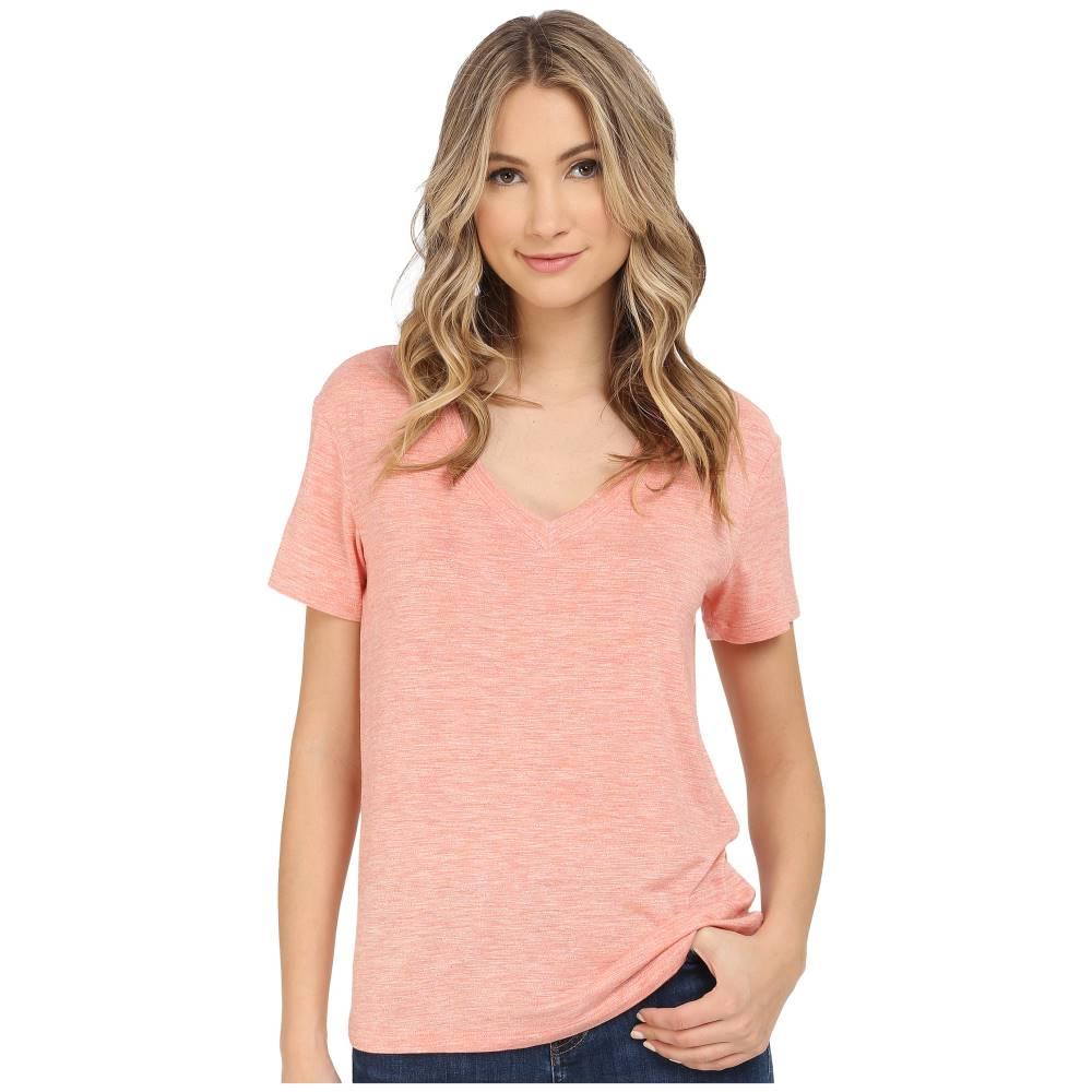 スプレンディッド レディース トップス Tシャツ【Heathered Spandex Jersey Tee】Heather Coral