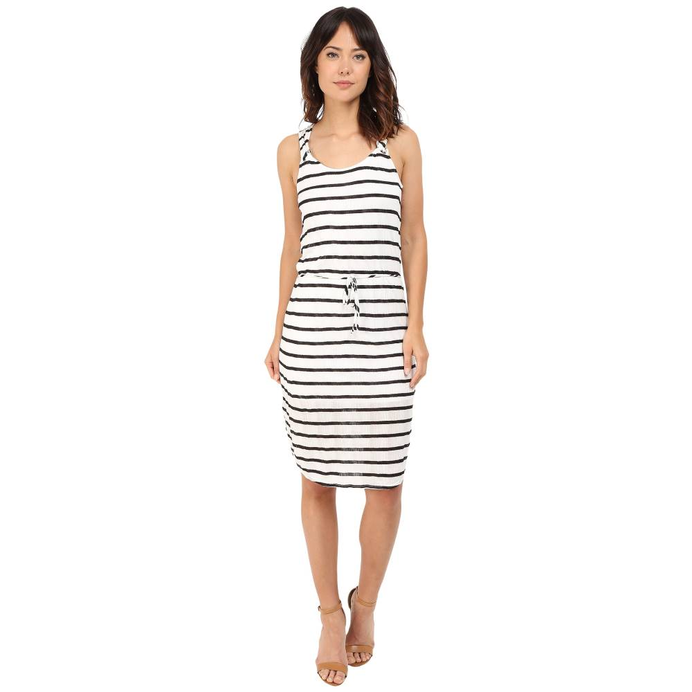 スプレンディッド レディース ワンピース・ドレス ワンピース【Huntington Stripe Rib Dress】White/Black