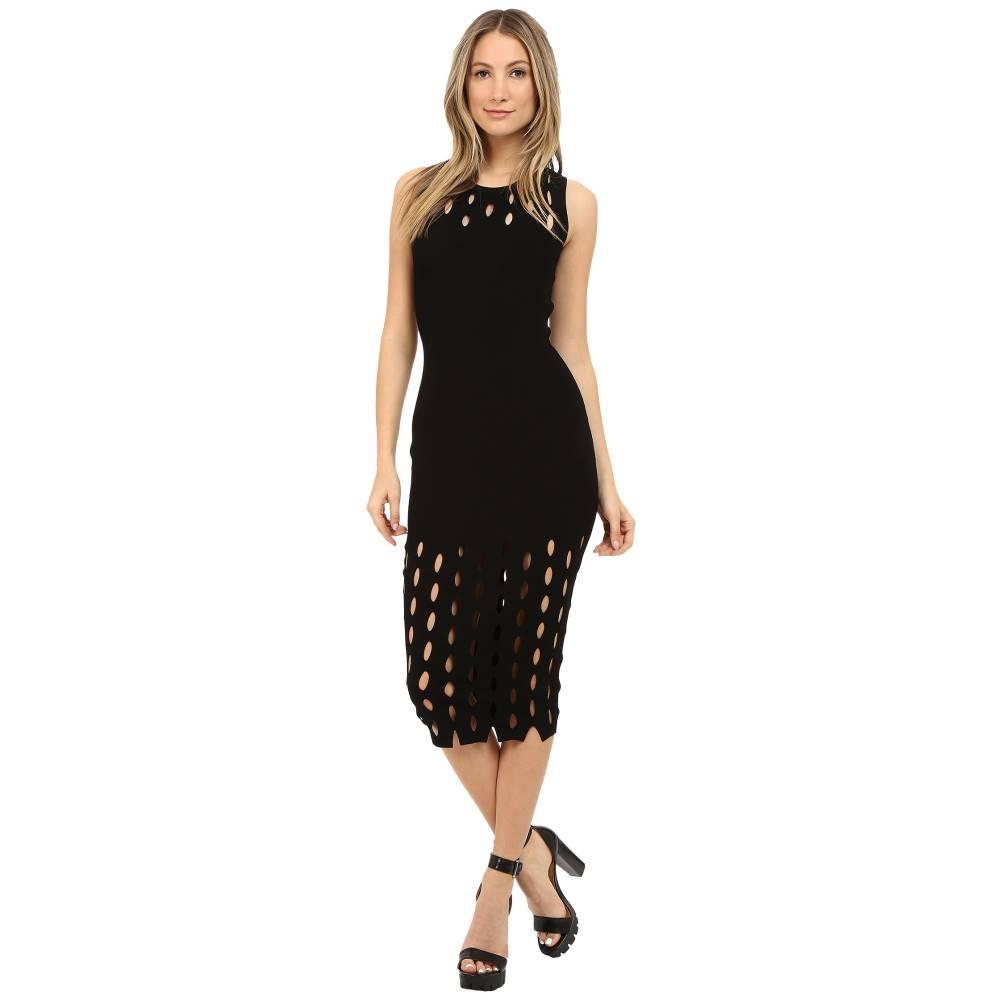 マックイーン McQ レディース トップス ワンピース【Cut Out Stitch Dress】Darkest Black