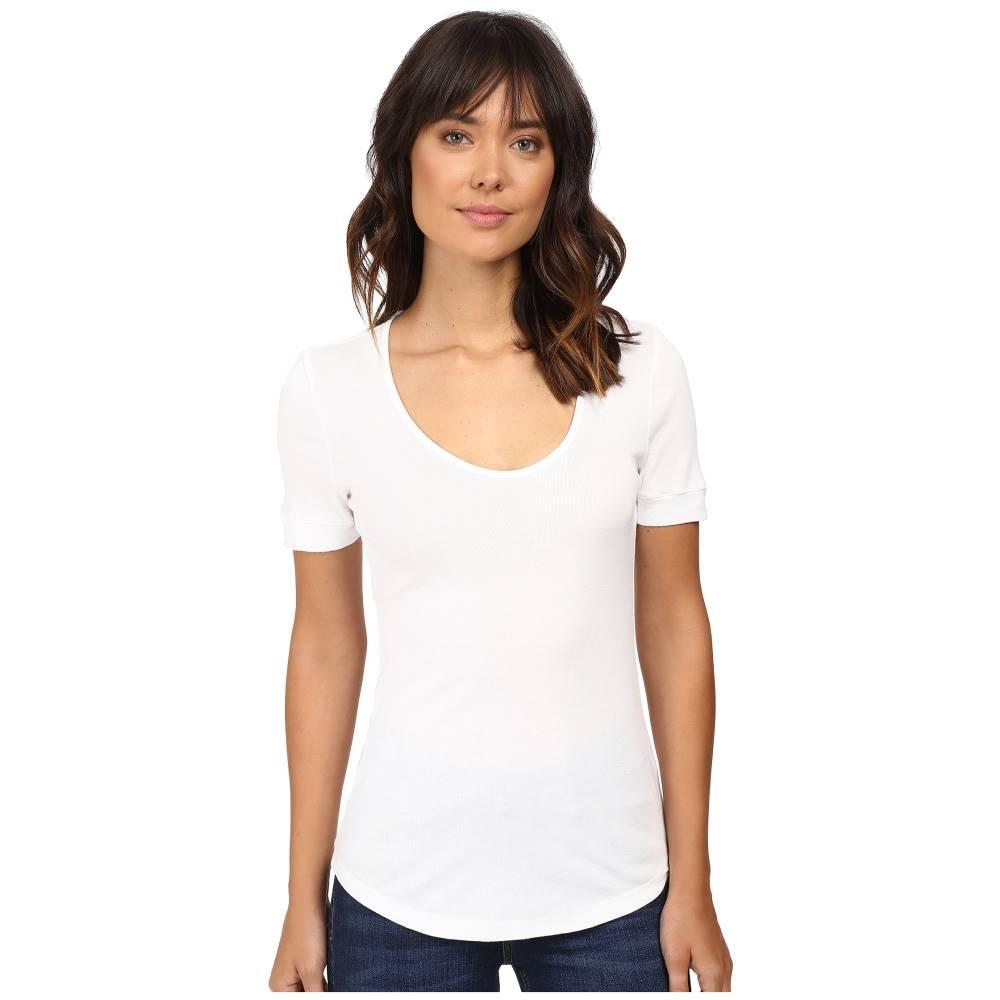 スプレンディッド レディース トップス Tシャツ【1X1 Scoop Neck Tee】White