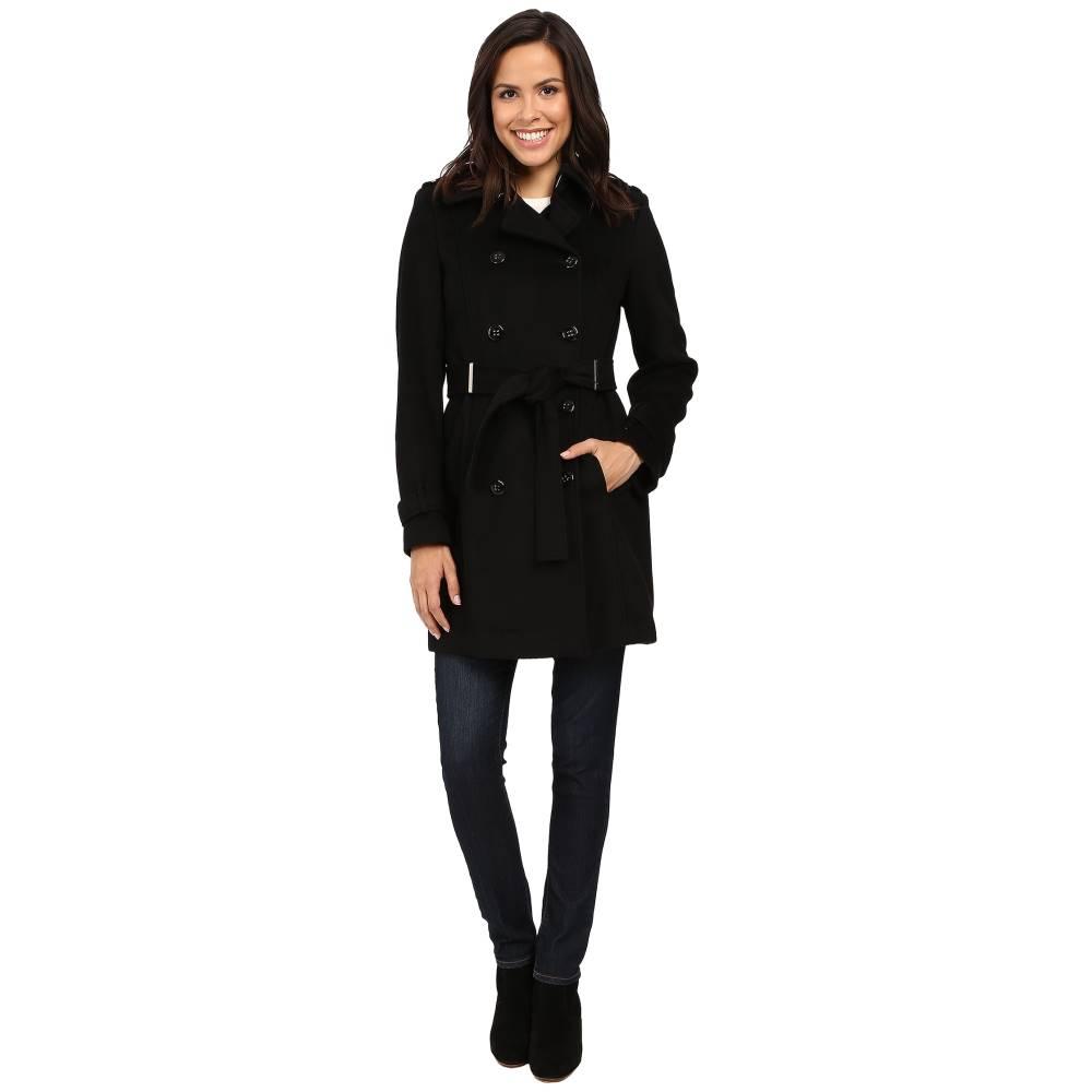 カルバンクライン Calvin Klein レディース アウター コート【Double-Breasted Belted Wool Coat】Black
