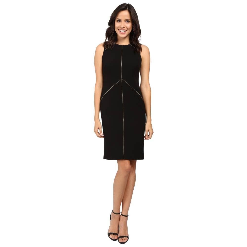 カルバンクライン Calvin Klein レディース トップス ワンピース【Sheath Dress with Zipper Detail CD6X1263】Black