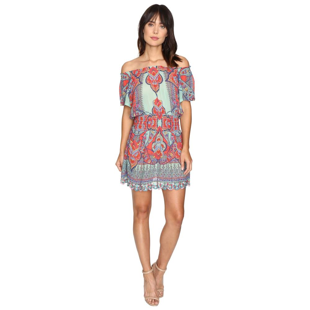 ニコルミラー レディース ワンピース・ドレス ワンピース【La Plage By Nicole Miller Beach Fleur Off the Shoulder Dress Cover-Up】Multi