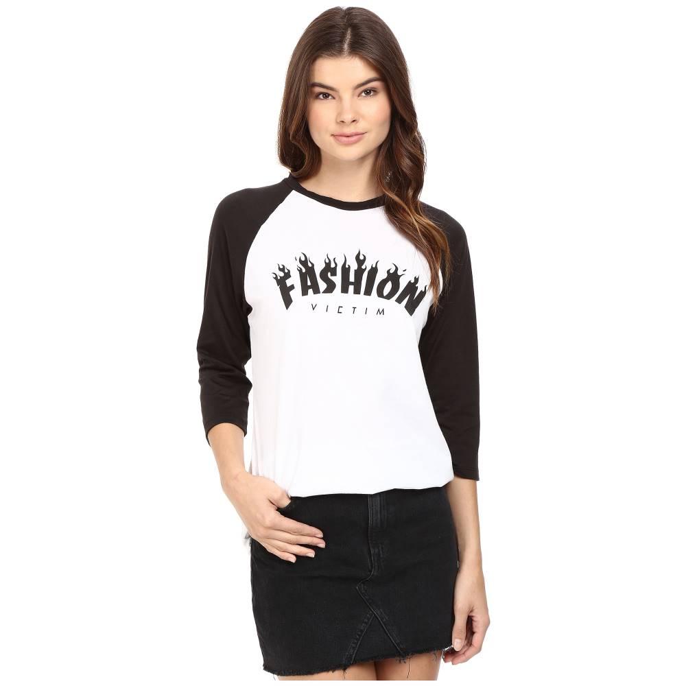 スタイルストーカー StyleStalker レディース トップス Tシャツ【Fashion Victims Rag】Black/White