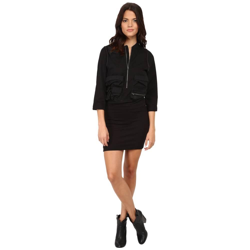 ジースター レディース ワンピース・ドレス ワンピース【Army Vick 3/4 Sleeve Dress】Black
