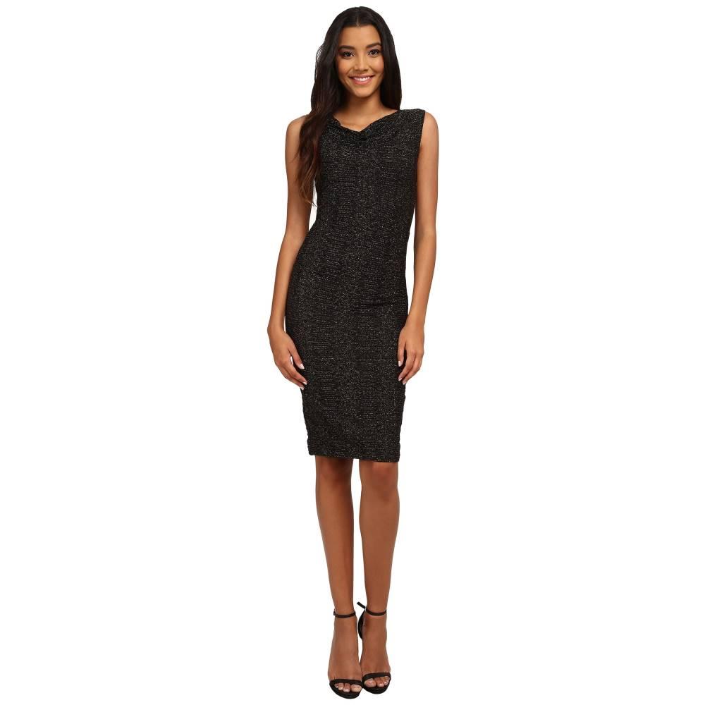 ニコルミラー レディース ワンピース・ドレス ワンピース【Metallic Stretch Party Sheath Dress】Black