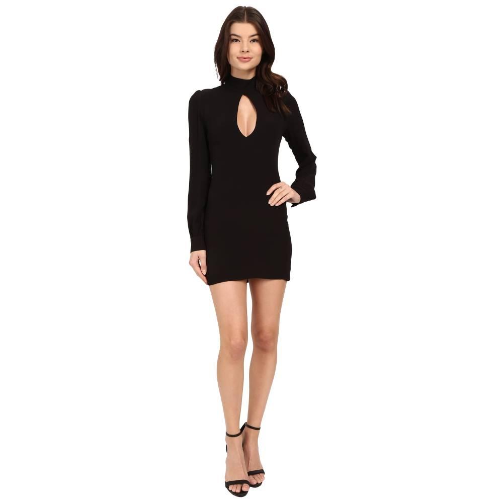 ストーン コールド フォックス レディース ワンピース・ドレス ワンピース【Victoria Dress】Black Crepe/Silk Habotai Lining