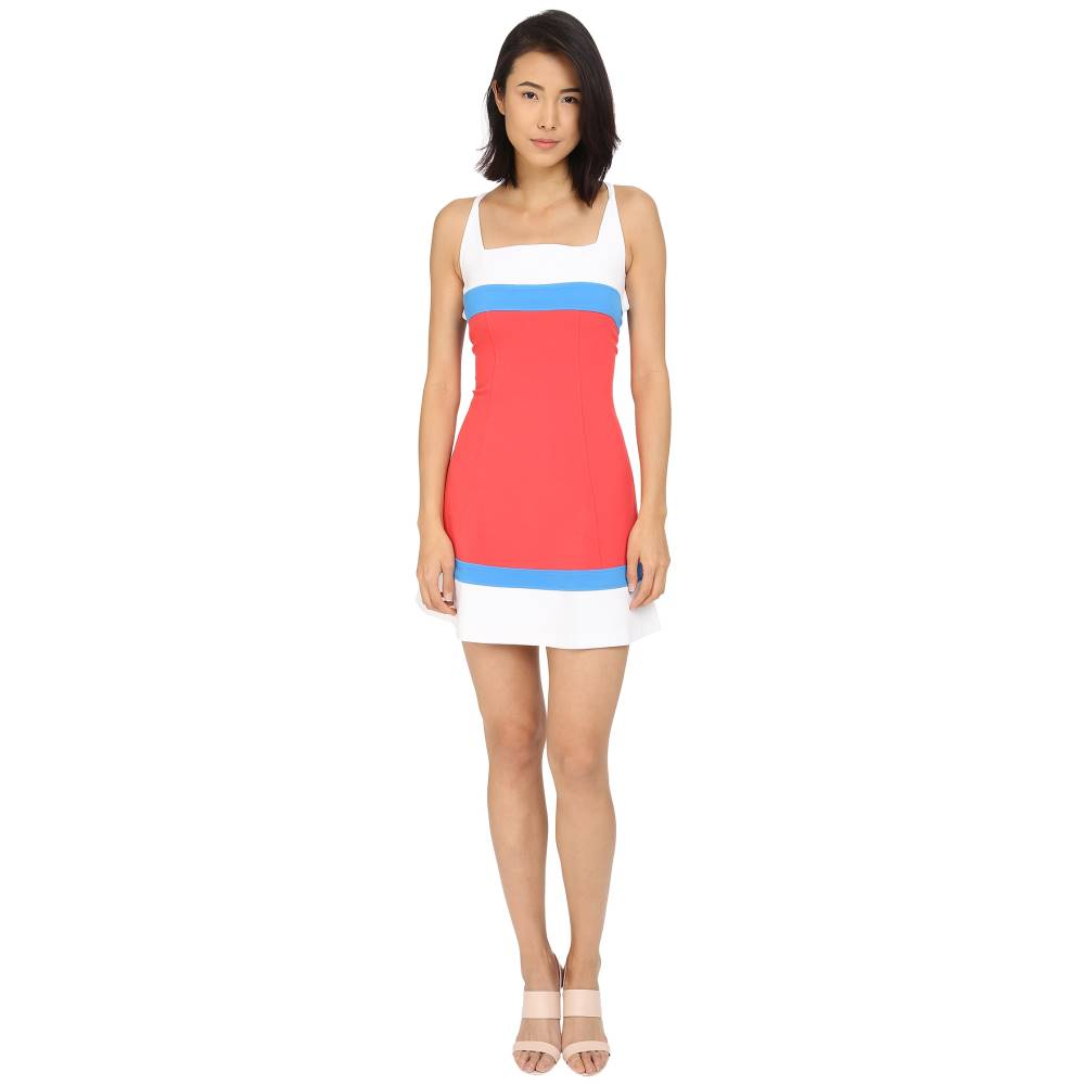 ディースクエアード DSQUARED2 レディース トップス ワンピース【Micro Piquet Compact Fit and Flare Dress】Coral/Blue/White