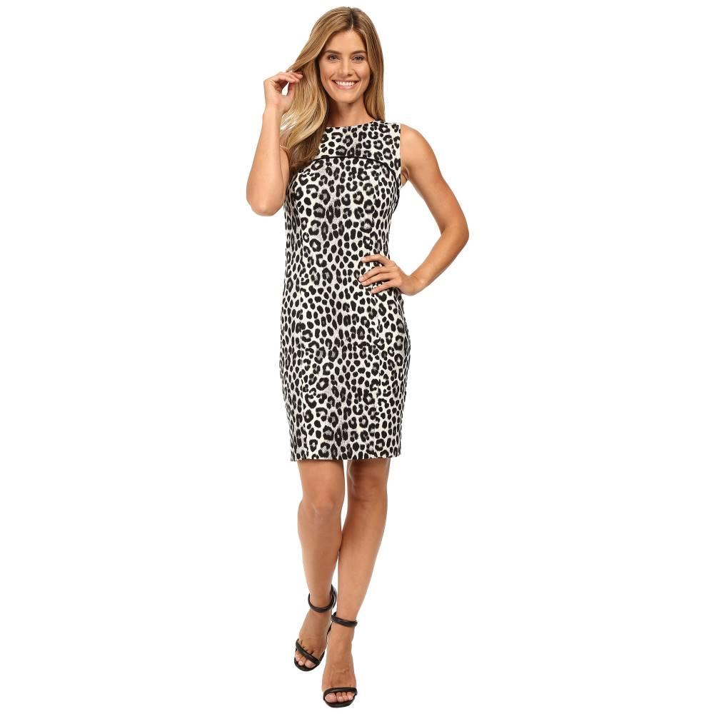 マイケル コース レディース ワンピース・ドレス ワンピース【Sleeveless Cheetah Yoke Dress】Black